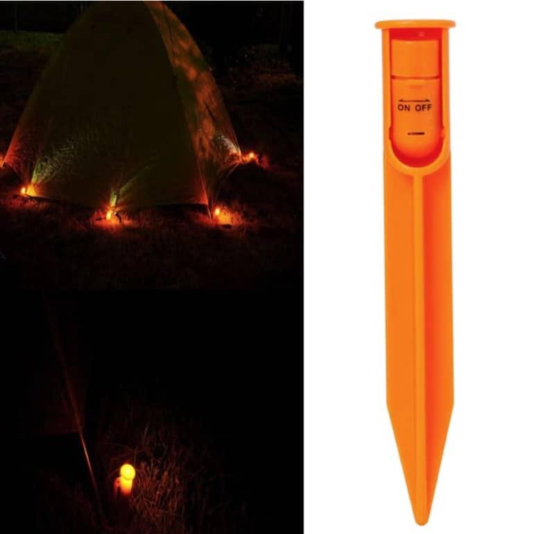 Колышек для палаток с LED-подсветкой