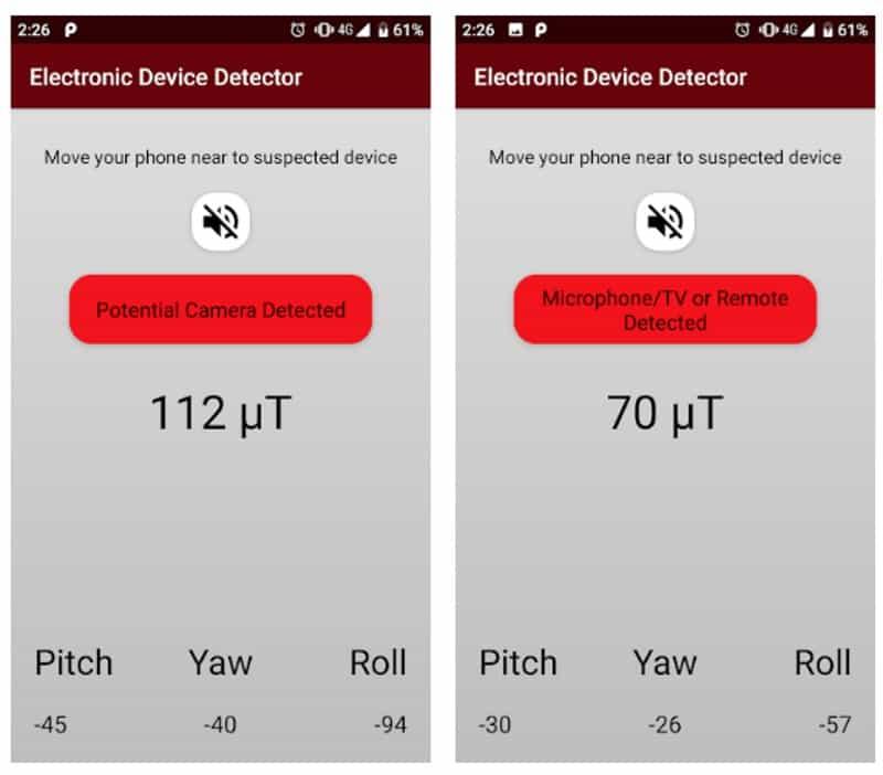 """Hidden Camera Detection - приложение для поиска """"жучков"""""""