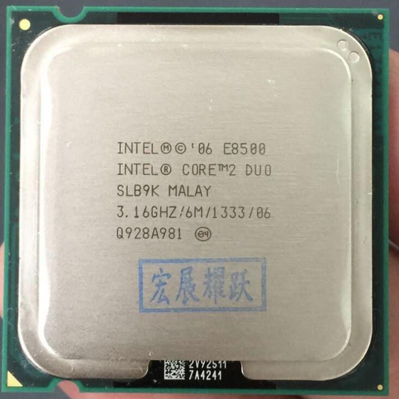 2-ядерный процессор Intel Core 2 Duo E8500