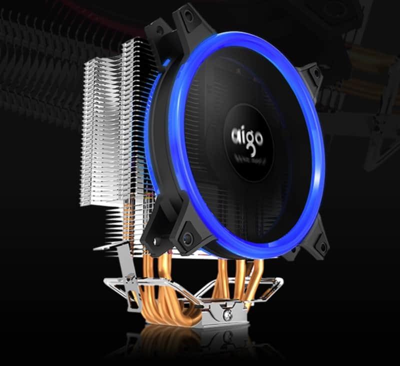 Башенный кулер AIGO E3 с 4 тепловыми трубками