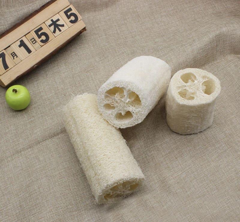 Натуральная мочалка-скрабер из люффы