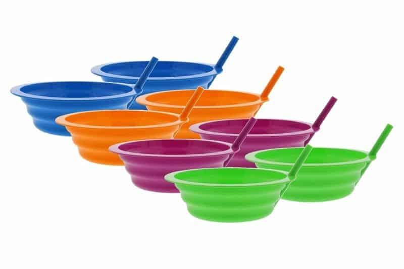 Тарелка для хлопьев со встроенной трубочкой Sip-A-Bowl