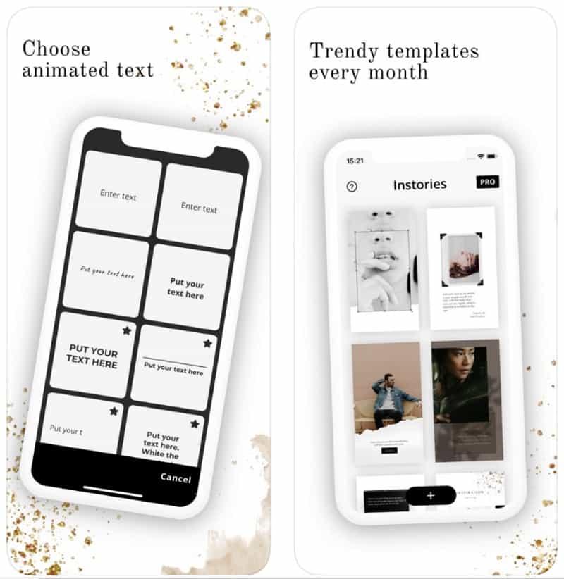 Instories - приложение для создания анимированных stories в Instagram