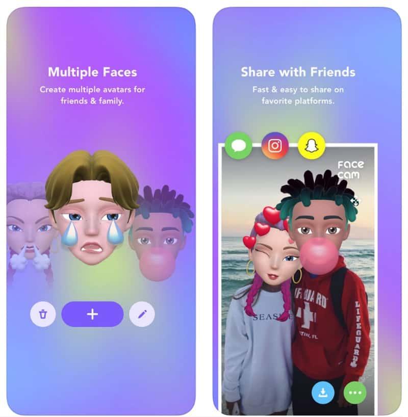 Face Cam - приложение для создания 3D-аватаров