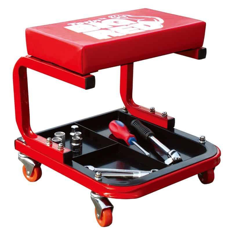 Ремонтная сидушка с лотком для инструментов Torin