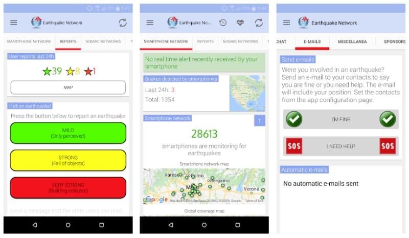 Earthquake Network - приложение для раннего предупреждения о землетрясениях
