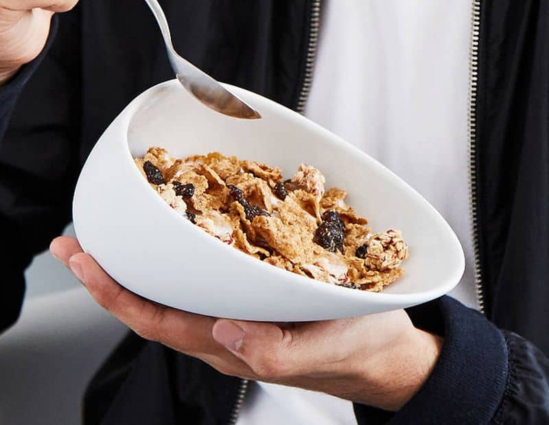 Эргономичная тарелка для сухих завтраков