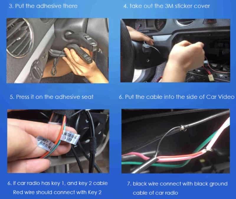 Подрулевой пульт управления автозвуком