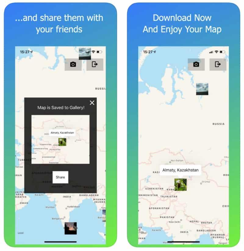 World Map - приложение с картой для Instagram