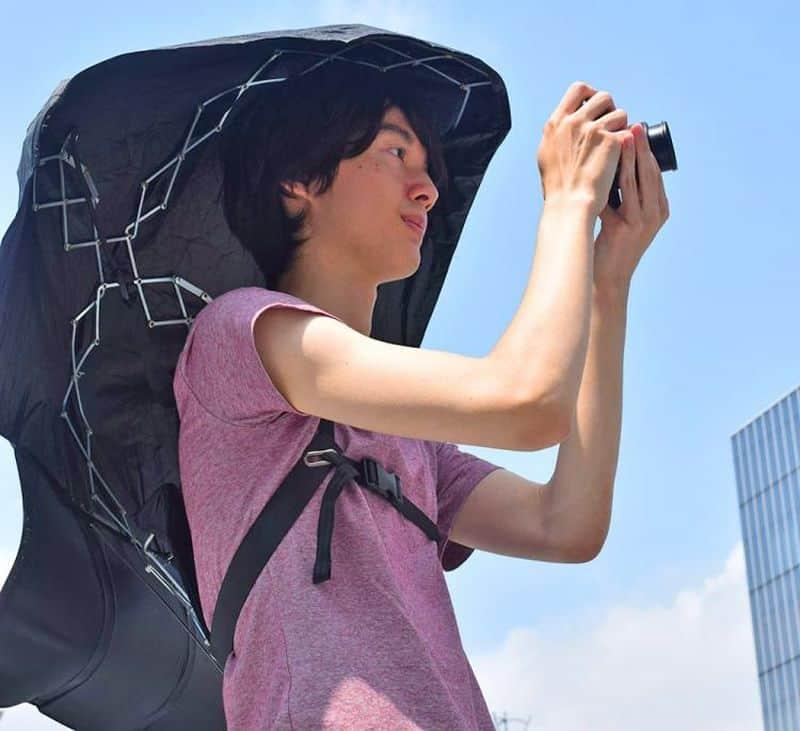 Заплечный зонт в формате рюкзака