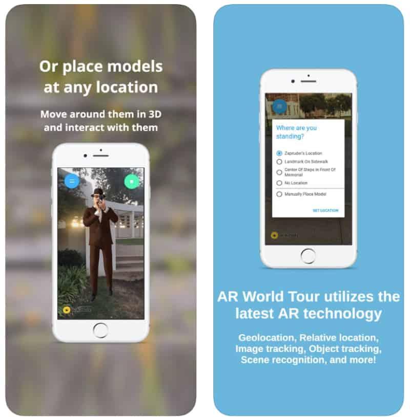 AR World Tour - приложение для туризма в дополненной реальности