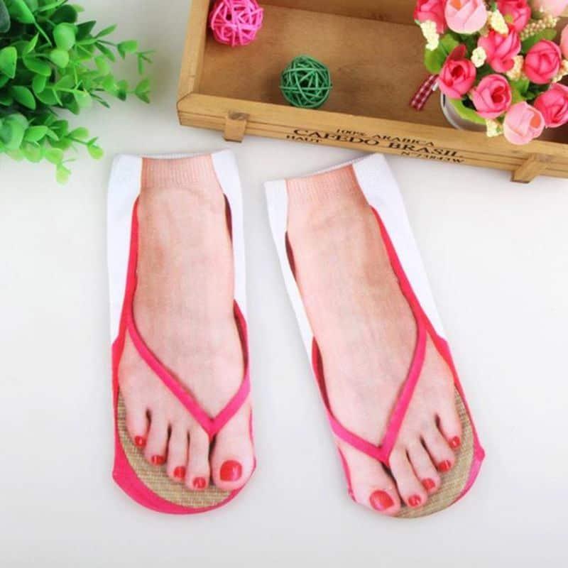Носки с рисунком ступней