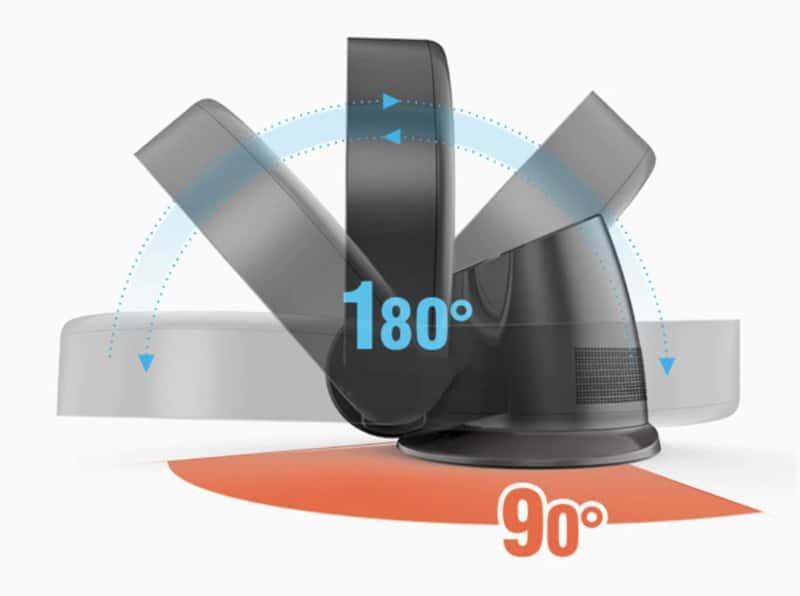 Безлопастной вентилятор для крепления на стену