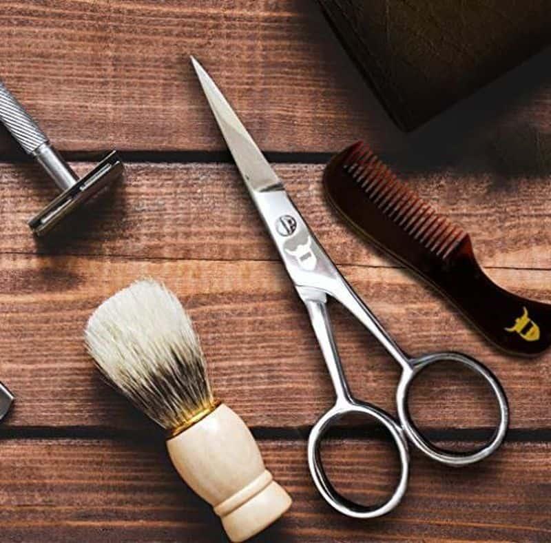 Ножницы для ухода за бородой и усами Striking Viking