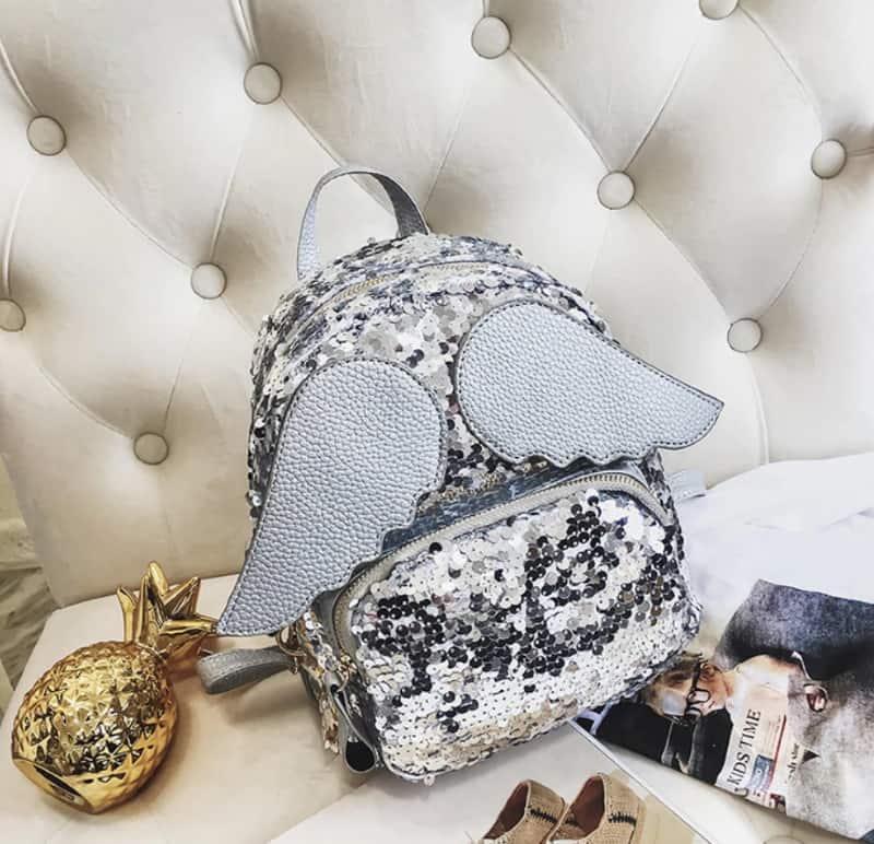 Ангельский рюкзачок с блёстками и крылышками