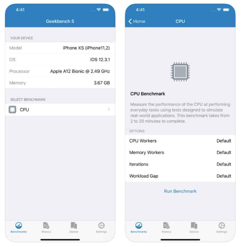 Geekbench 5 Pro - приложение-бенчмарк для iOS и Android