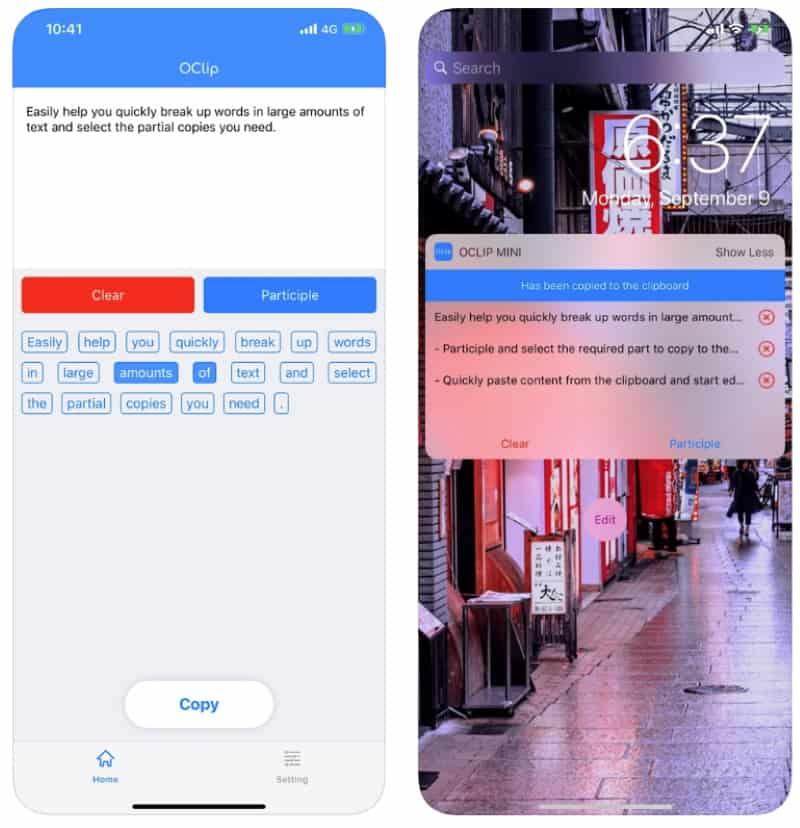 OClip — приложение для управления буфером обмена
