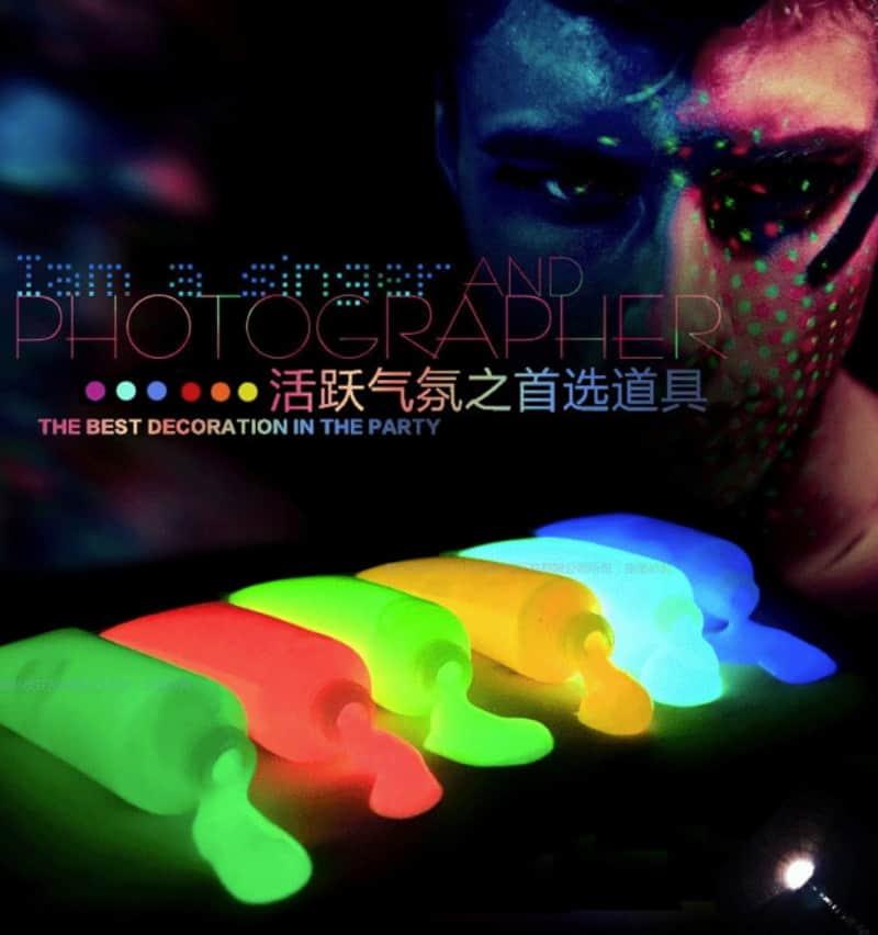Флуоресцентная краска для тела