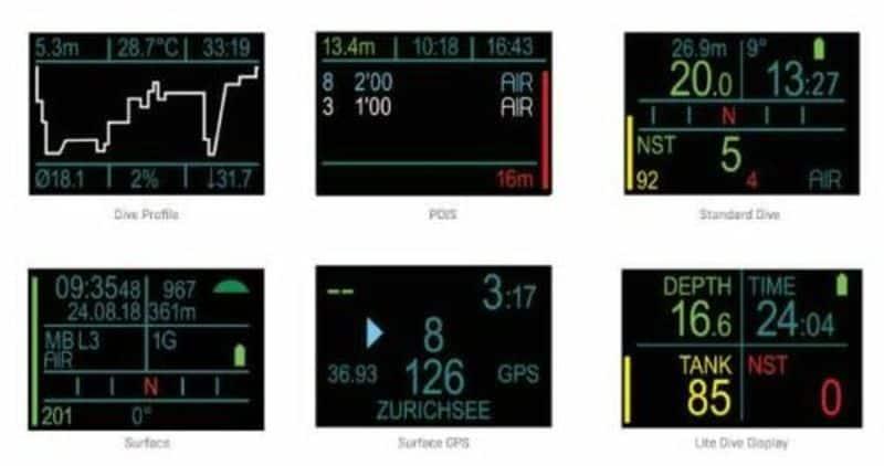 Профессиональный компьютер для погружений с HUD-дисплеем ScubaPro Galileo