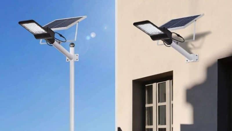 Уличный фонарь с питанием от солнечной батареи
