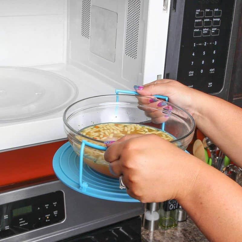 Безопасный держатель для посуды