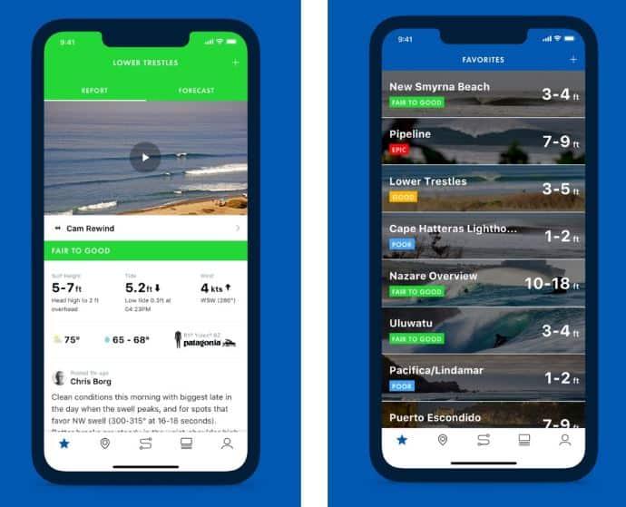 Surfline — приложение для серферов