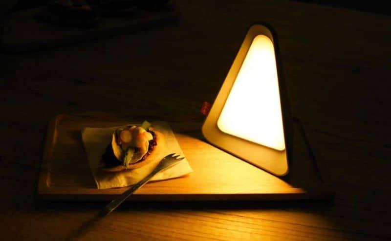 Треугольный LED-ночник с датчиком гравитации
