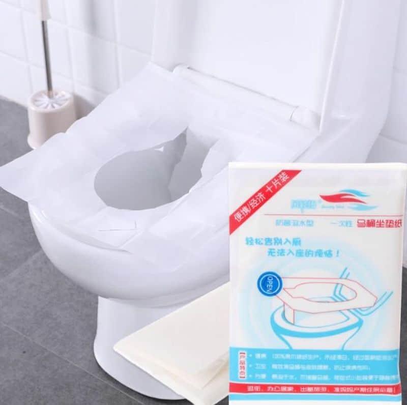 Комплект одноразовых сидений для унитаза