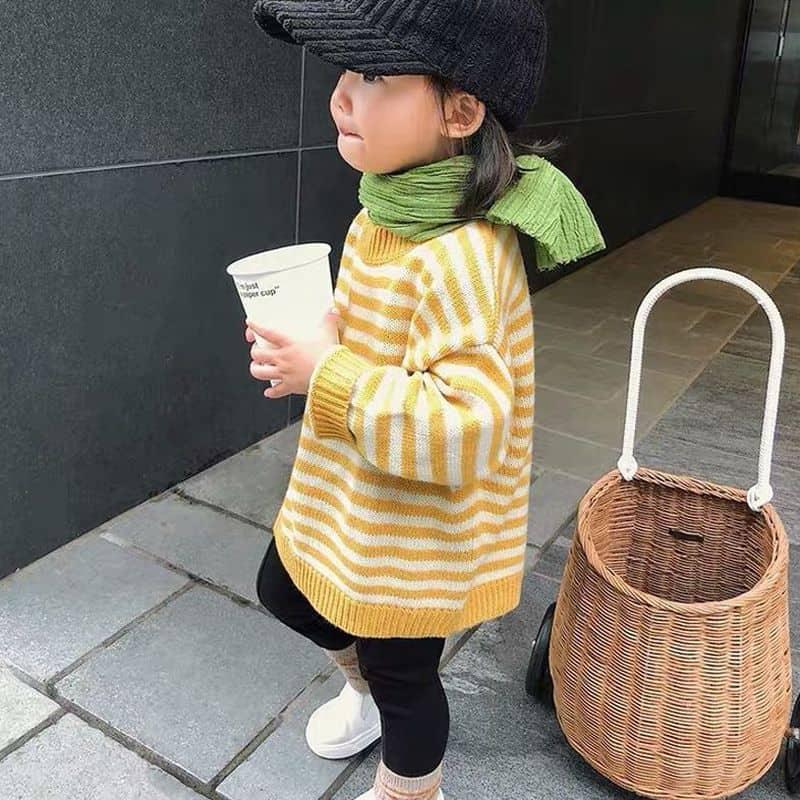 Плетёная корзина для покупок