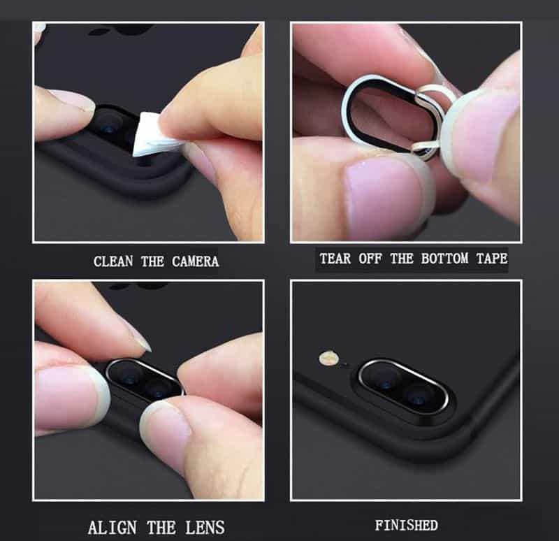 Металлический бампер для двойных объективов iPhone