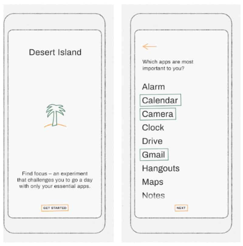 Desert Island - приложение для аскетов