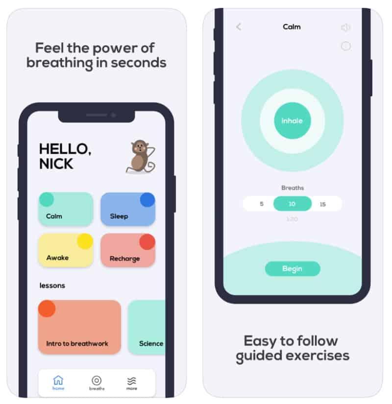 Breathwrk — приложение для тренировки дыхания