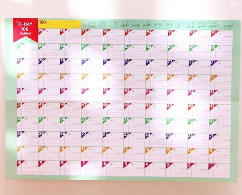 100-дневный календарь для планирования