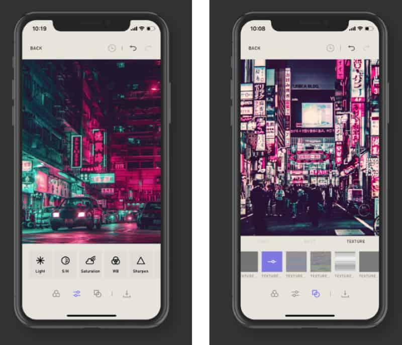 Neongraf - приложение для ценителей киберпанка