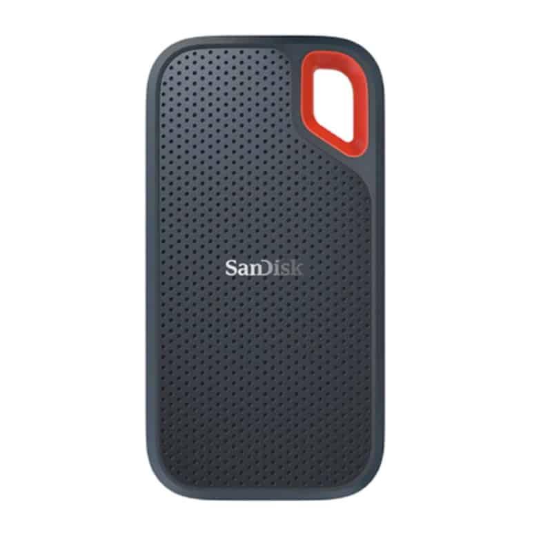 Внешний SSD-накопитель с отверстием для крепления от SanDisk