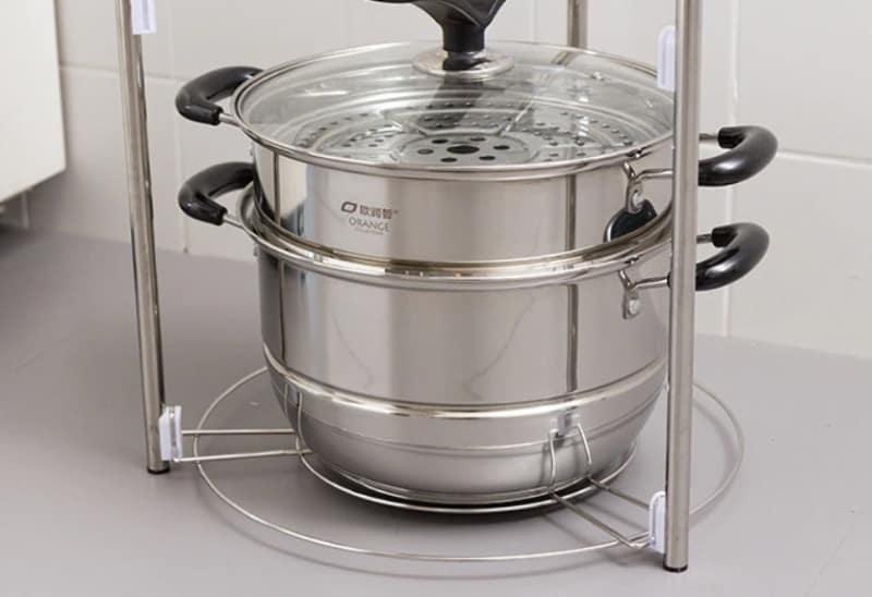 Многоуровневая полочка для кухонной утвари