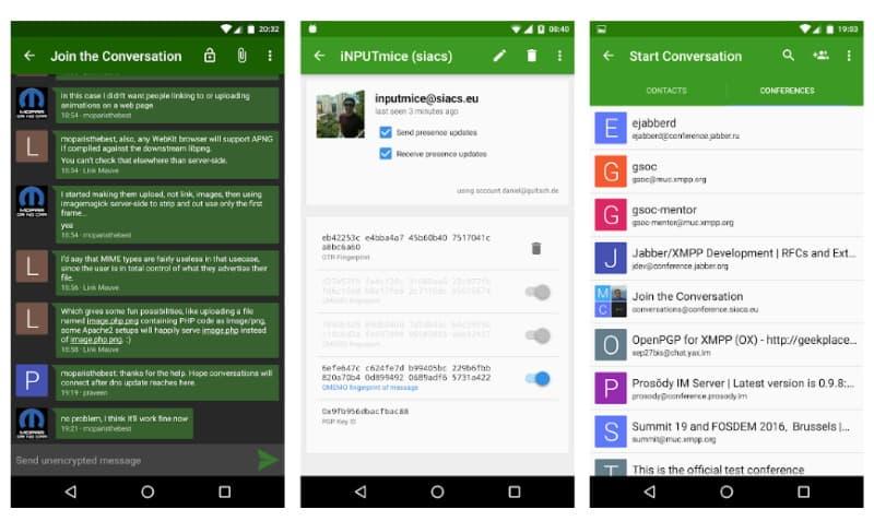 Conversations - удобный Jabber-клиент для Android