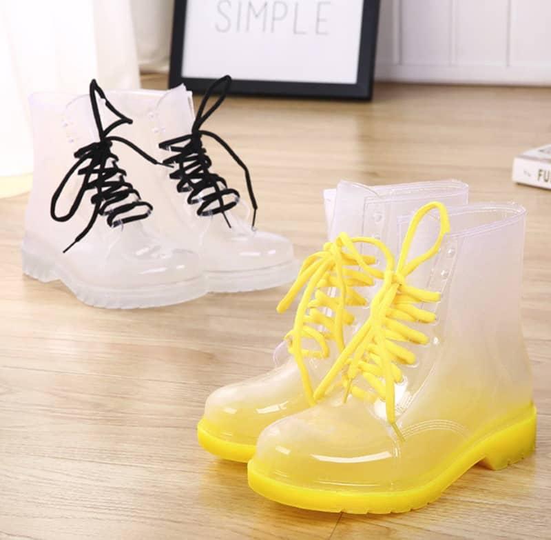 Резиновые сапоги на шнуровке