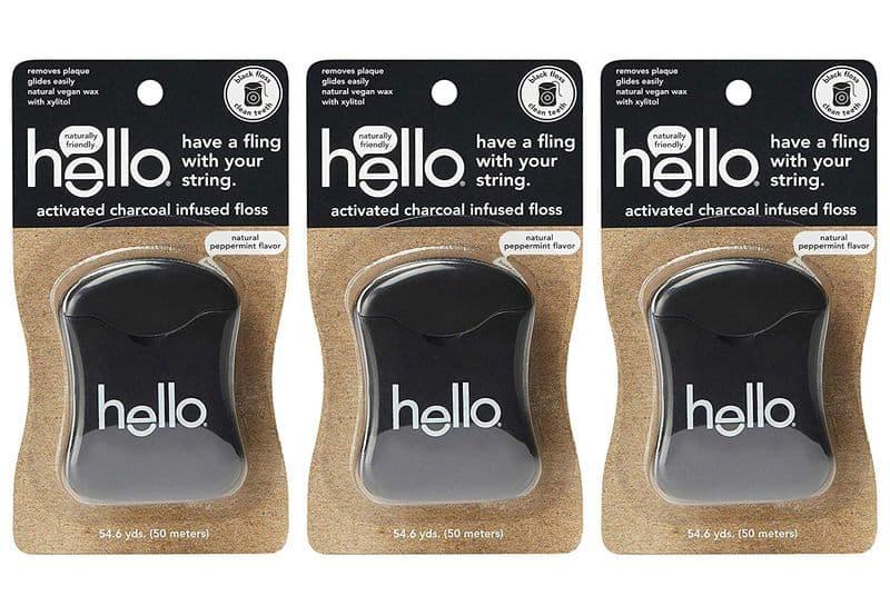 Угольная нить для чистки зубов Hello