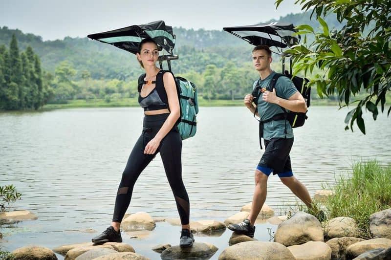 Рюкзак со встроенным зонтиком и вентилятором EZ Funshell