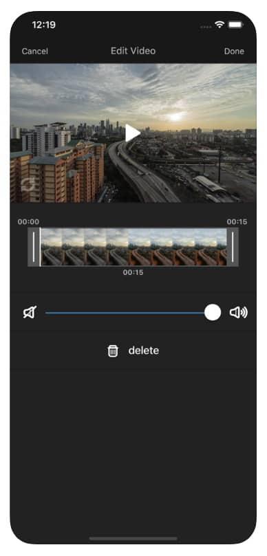 Voice Over Video - приложение для редактирования звуковых дорожек