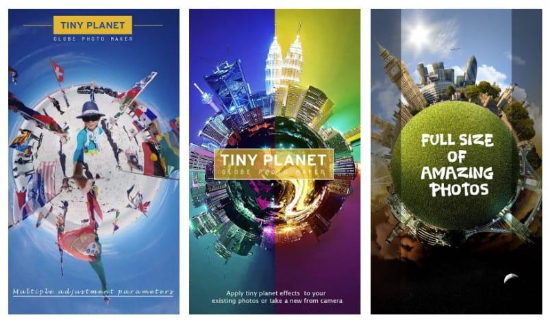 Tiny Planet - приложение для редактирования фото с эффектом планеты