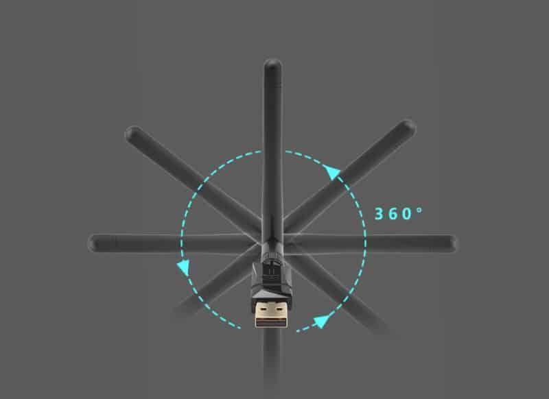 2-диапазонный Wi-Fi адаптер Rocketek