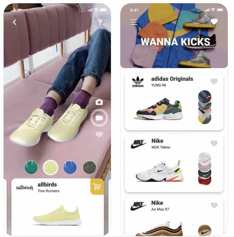 Wanna Kicks - приложение для примерки кроссовок в дополненной реальности