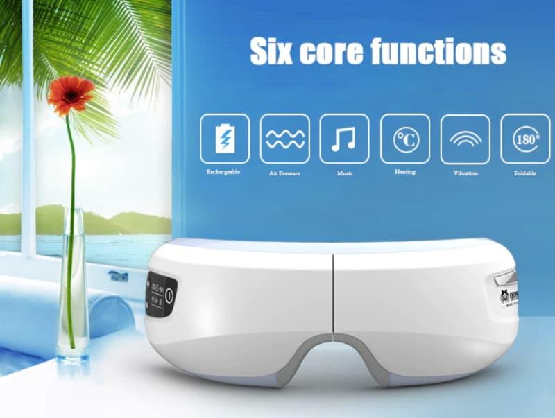 Массажёр для глаз с функцией MP3-проигрывателя