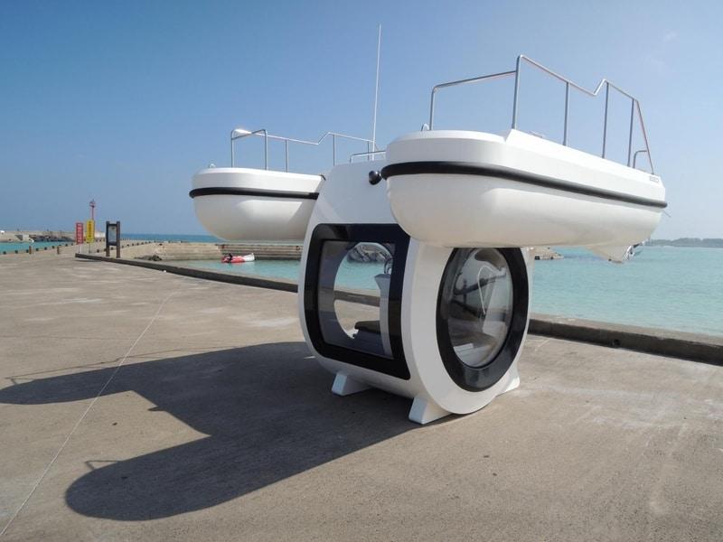 Гибрид катамарана и подводной лодки