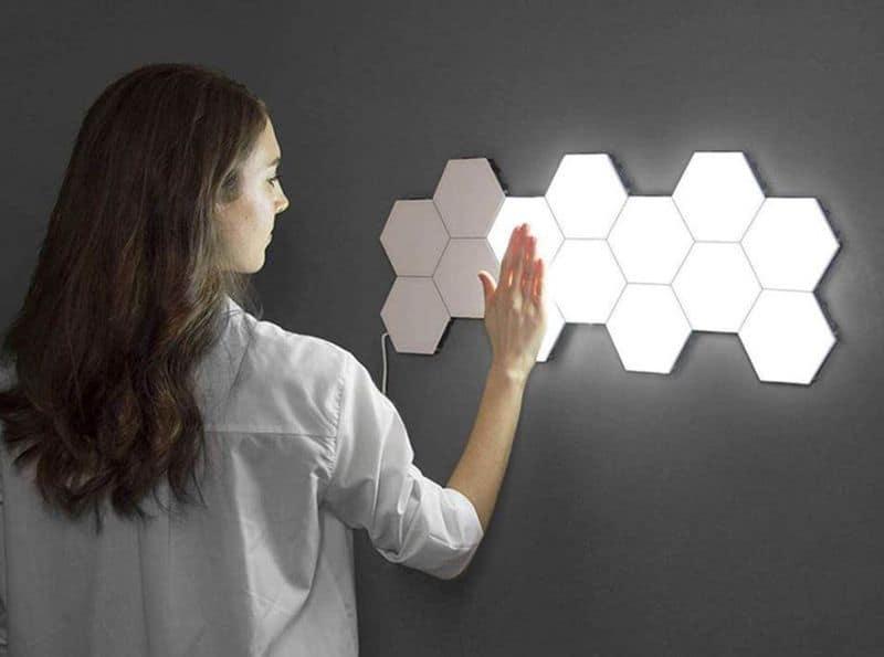 Модульный светильник из шестиугольников