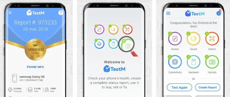 TestM — приложение для комплексного тестирования смартфона