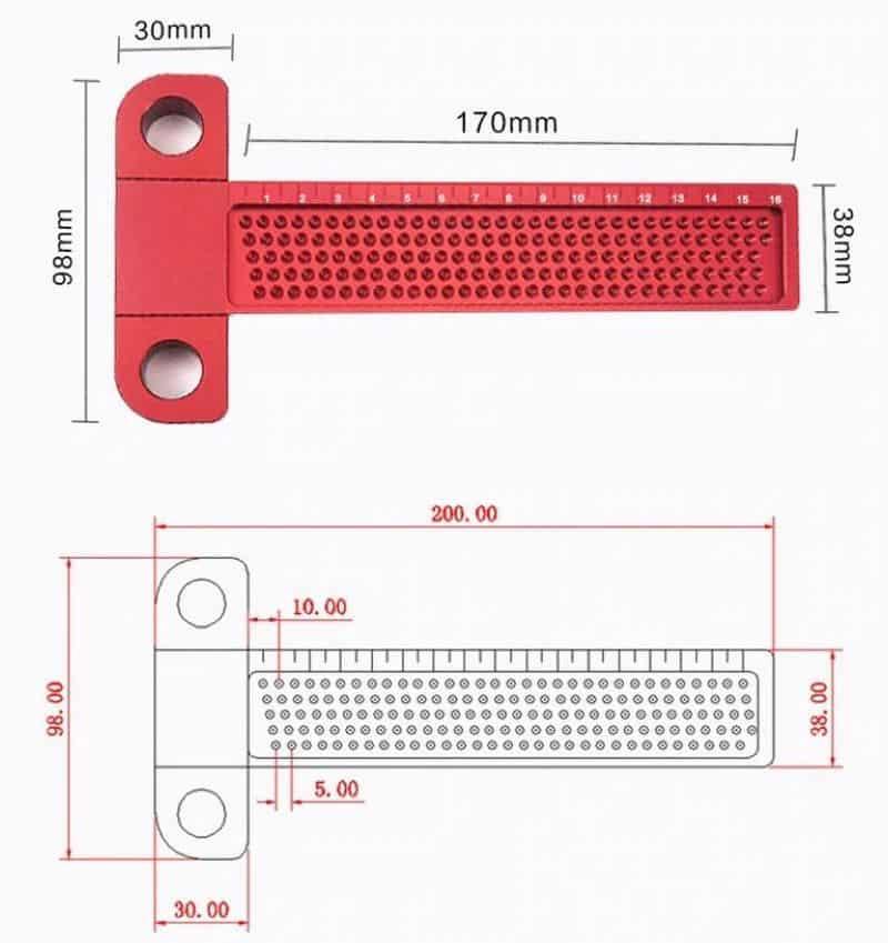 T-образный разметчик для деревянных деталей