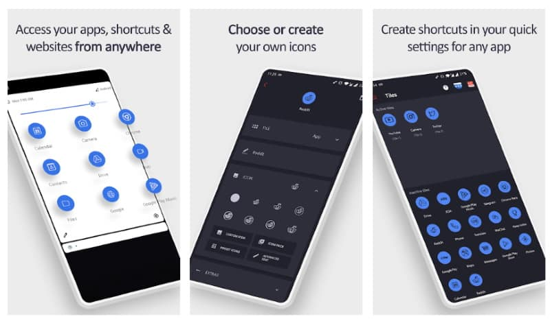 Tile Shortcuts - приложение для настройки быстрого доступа